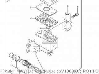 Suzuki Sv1000s 2006 k6 Usa e03 Front Master Cylinder sv1000k6 Not For Us Market
