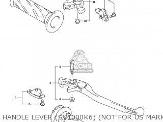 Suzuki Sv1000s 2006 k6 Usa e03 Handle Lever sv1000k6 not For Us Market