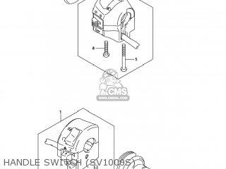 Suzuki Sv1000s 2006 k6 Usa e03 Handle Switch sv1000s