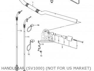Suzuki Sv1000s 2006 k6 Usa e03 Handlebar sv1000 not For Us Market