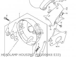 Suzuki Sv1000s 2006 k6 Usa e03 Headlamp Housing sv1000k6 E33