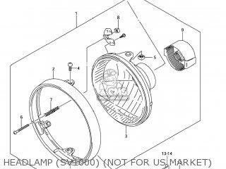 Suzuki Sv1000s 2006 k6 Usa e03 Headlamp sv1000 not For Us Market