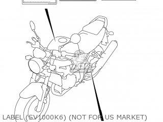 Suzuki Sv1000s 2006 k6 Usa e03 Label sv1000k6 not For Us Market