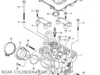 Suzuki Sv1000s 2006 k6 Usa e03 Rear Cylinder Head