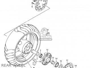 Suzuki Sv1000s 2006 k6 Usa e03 Rear Wheel