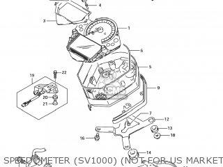 Suzuki Sv1000s 2006 k6 Usa e03 Speedometer sv1000 not For Us Market