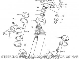 Suzuki Sv1000s 2006 k6 Usa e03 Steering Stem sv1000k6 Not For Us Market