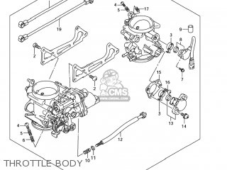 Suzuki Sv1000s 2006 k6 Usa e03 Throttle Body