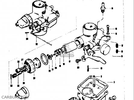 Suzuki T125ii 1971 r Usa e03 Carburetor