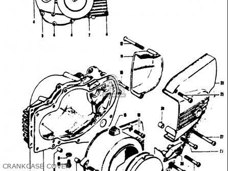 Suzuki T125ii 1971 r Usa e03 Crankcase Cover