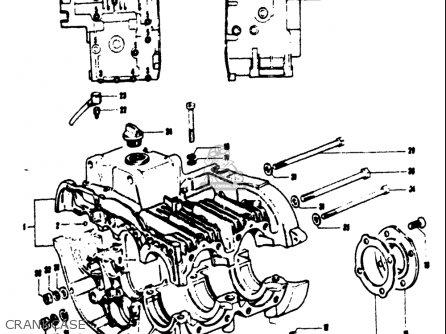 Suzuki T125ii 1971 r Usa e03 Crankcase