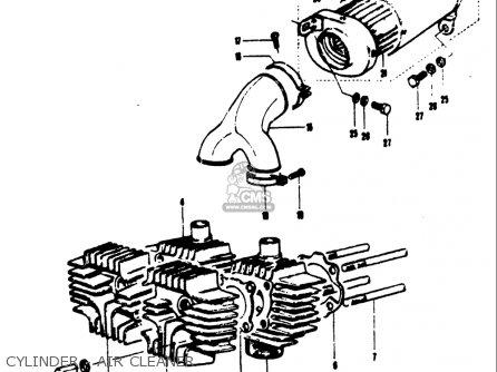Suzuki T125ii 1971 r Usa e03 Cylinder - Air Cleaner
