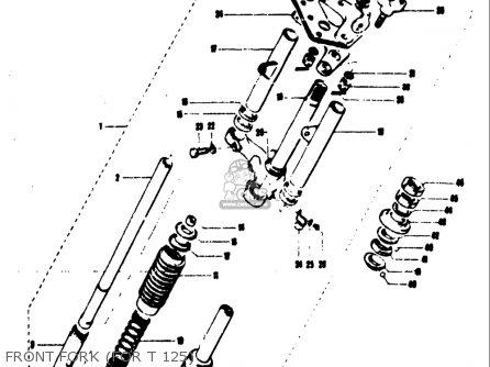 Suzuki T125ii 1971 r Usa e03 Front Fork for T 125