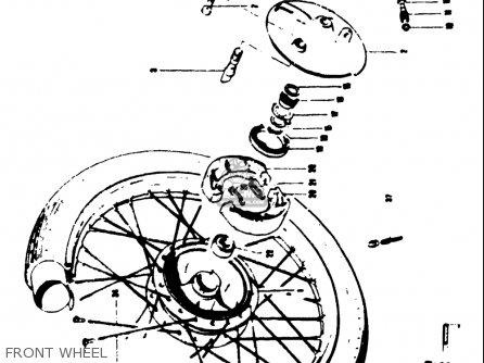 Suzuki T125ii 1971 r Usa e03 Front Wheel