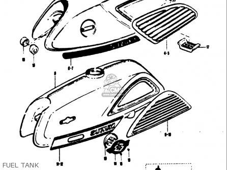Suzuki T125ii 1971 r Usa e03 Fuel Tank