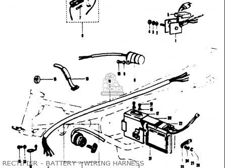 Suzuki T125ii 1971 r Usa e03 Rectifier - Battery - Wiring Harness