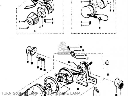 Suzuki T125ii 1971 r Usa e03 Turn Signal Lamp - Tail   Brake Lamp