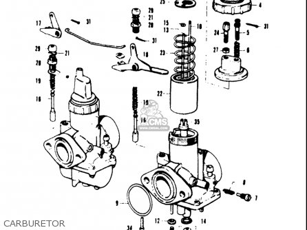 Suzuki T20 Tc250 1969 usa Carburetor