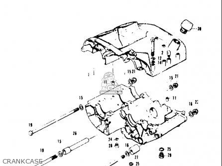 Suzuki T20 Tc250 1969 usa Crankcase