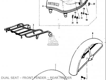 Suzuki T20 Tc250 1969 usa Dual Seat - Front Fender - Rear Fender
