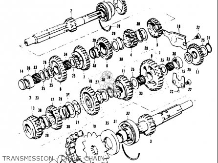 Suzuki T20 Tc250 1969 Usa e03 Transmission - Drive Chain