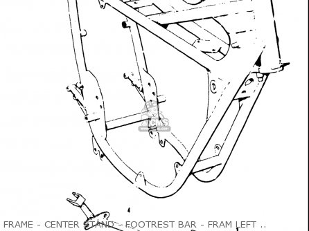 Suzuki T20 Tc250 1969 usa Frame - Center Stand - Footrest Bar - Fram Left Cover