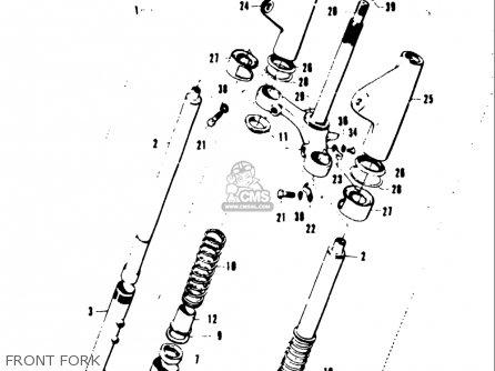 Suzuki T20 Tc250 1969 usa Front Fork