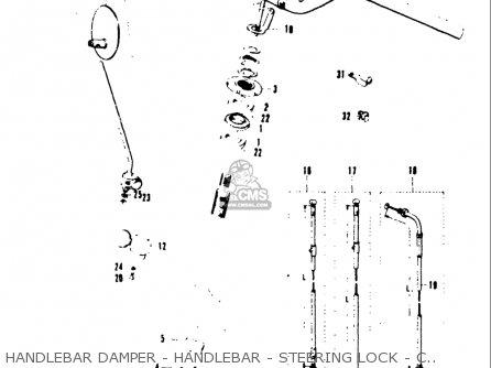 Suzuki T20 Tc250 1969 usa Handlebar Damper - Handlebar - Steering Lock - Cables - Steering