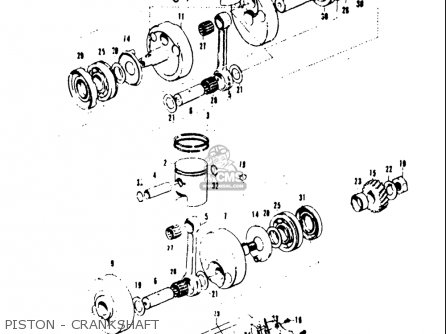 Suzuki T20 Tc250 1969 usa Piston - Crankshaft