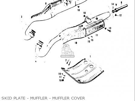 Suzuki T20 Tc250 1969 usa Skid Plate - Muffler - Muffler Cover