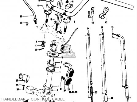 Suzuki T250iir 1972 j Usa e03 Handlebar - Control Cable