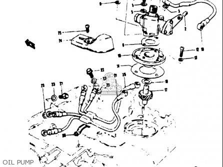 Suzuki T250iir 1972 j Usa e03 Oil Pump