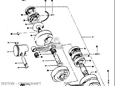 Suzuki T250iir 1972 j Usa e03 Piston - Crankshaft