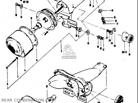 Suzuki T250iir 1972 j Usa e03 Rear Combination Lamp