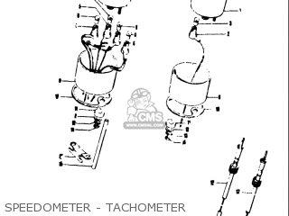 Suzuki T250iir 1972 j Usa e03 Speedometer - Tachometer
