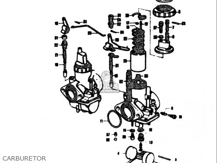 Suzuki T305 Tc305 1969 usa Carburetor