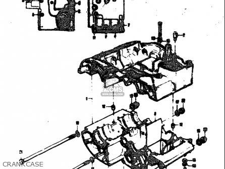 Suzuki T305 Tc305 1969 usa Crankcase
