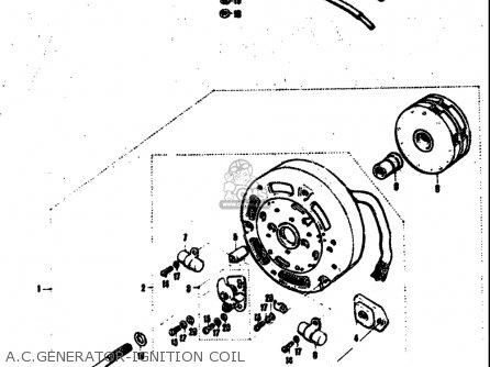 Suzuki T305 Tc305 1969 Usa e03 A c generator-ignition Coil