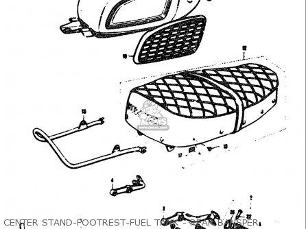 Suzuki T305 Tc305 1969 Usa e03 Center Stand-footrest-fuel Tank - Rear Bansper