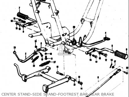 Suzuki T305 Tc305 1969 Usa e03 Center Stand-side Stand-footrest Bar-rear Brake