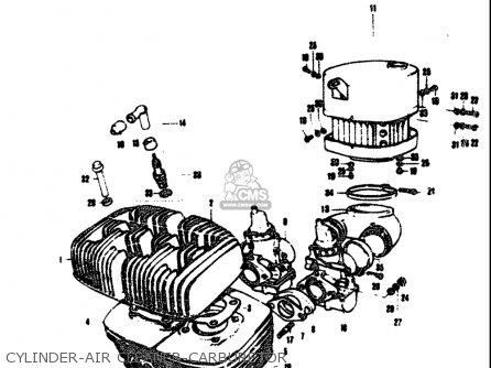 Suzuki T305 Tc305 1969 Usa e03 Cylinder-air Cleaner-carburetor