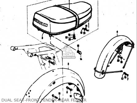 Suzuki T305 Tc305 1969 Usa e03 Dual Seat-front Fender-rear Fender
