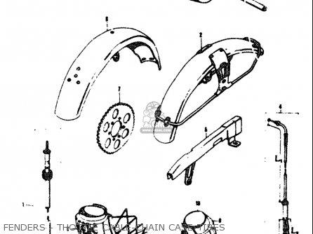 Suzuki T305 Tc305 1969 Usa e03 Fenders - Thottle Cable-chain Case-tires