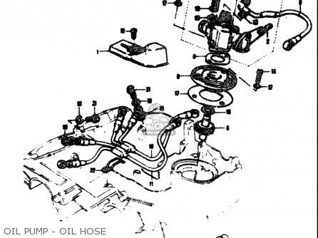 Suzuki T305 Tc305 1969 Usa e03 Oil Pump - Oil Hose