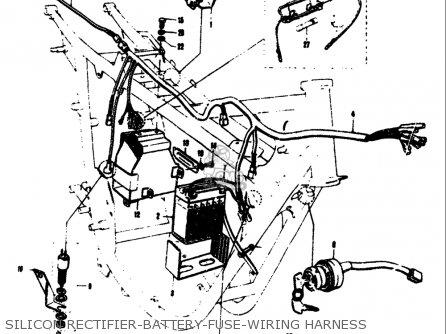 Suzuki T305 Tc305 1969 Usa e03 Silicon Rectifier-battery-fuse-wiring Harness