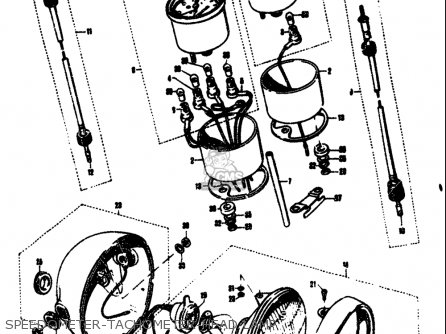 Suzuki T305 Tc305 1969 Usa e03 Speedometer-tachometer-head Lamp