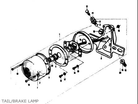 Suzuki T305 Tc305 1969 Usa e03 Tail brake Lamp
