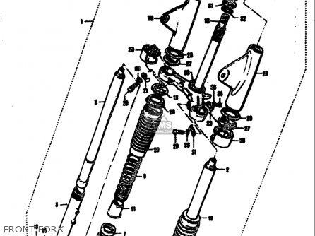 Suzuki T305 Tc305 1969 usa Front Fork