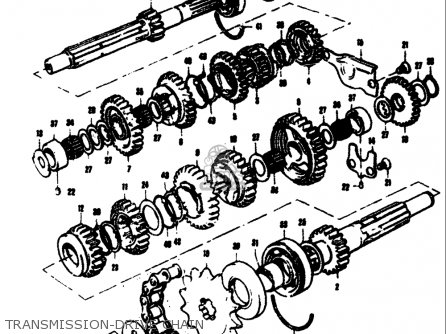 Suzuki T305 Tc305 1969 usa Transmission-drive Chain
