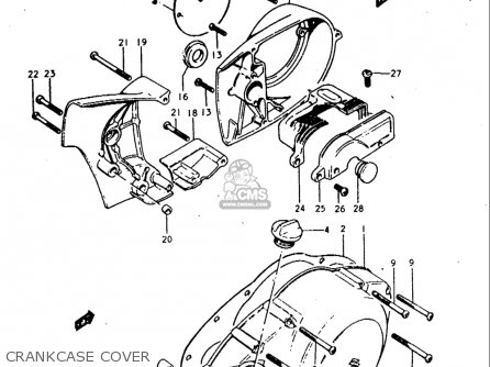 Suzuki T350 1969 1970 1971 1972   r j Usa e03 Crankcase Cover